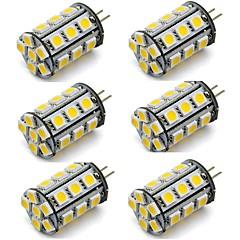 お買い得  LED 電球-2w g4 led電球バイピンライト24 smd 5050 dc 12v暖かい/冷たい白い家庭用rv車ボート(6個)