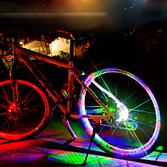 abordables Luces para bicicleta-Luces Decorativas / luces de la rueda LED Ciclismo Impermeable, Cool Batería Recargable 50 lm Cambiar Ciclismo