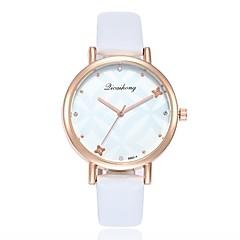preiswerte Damenuhren-Damen Kleideruhr / Armbanduhr Chinesisch Neues Design / Armbanduhren für den Alltag / Imitation Diamant PU Band Freizeit / Modisch Schwarz / Weiß / Rosa