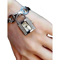 お買い得  レディース腕時計-女性用 リストウォッチ クロノグラフ付き / 光る / かわいい 合金 バンド ファッション / エレガント シルバー