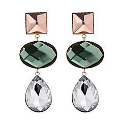 preiswerte Ohrringe-Damen Stilvoll Tropfen-Ohrringe - Tropfen Geometrisch, Retro, Europäisch Grün / Blau / Leicht Grün Für Party