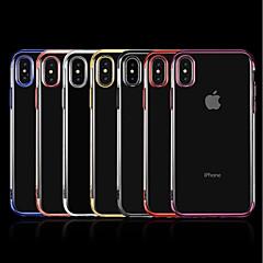 Недорогие Кейсы для iPhone 6-Кейс для Назначение Apple iPhone X / iPhone 8 Plus Покрытие / Прозрачный Кейс на заднюю панель Однотонный Мягкий ТПУ для iPhone X / iPhone 8 Pluss / iPhone 8