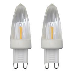 preiswerte LED-Birnen-2pcs 3 W 150-200 lm G9 LED Kerzen-Glühbirnen 1 LED-Perlen COB Dekorativ Warmes Weiß / Kühles Weiß 110-120 V