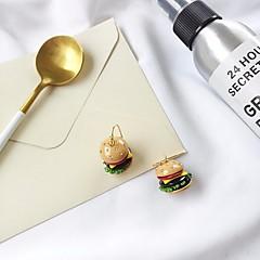abordables Bijoux pour Femme-Boucle d'Oreille Pendantes Femme Zircon Stylé Strass S925 argent sterling Hamburger dames Original Mode Le style mignon Bijoux Jaune Mignon pour Cadeau Rendez-vous 1 paire