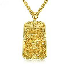 Недорогие Ожерелья-Муж. Стильные Ожерелья с подвесками - Позолота 18К Мода Cool Золотой 61 cm Ожерелье Бижутерия 1шт Назначение Подарок, Повседневные