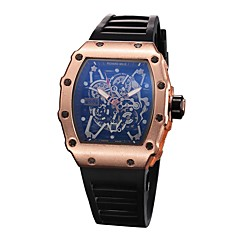 お買い得  メンズ腕時計-男性用 スポーツウォッチ / リストウォッチ 中国 クロノグラフ付き / クリエイティブ / 新デザイン シリコーン バンド ぜいたく / ヴィンテージ ブラック
