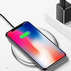 abordables Cargadores para Teléfono-nueve cinco nt3 universal de aleación de zinc de cuero qi cargador inalámbrico para apple iphone x iphone8 samsung s8 s7