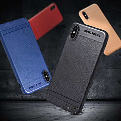 abordables Fundas para iPhone X-Funda Para Apple iPhone X / iPhone 8 Plus Congelada Funda Trasera Un Color Suave TPU para iPhone X / iPhone 8 Plus / iPhone 8
