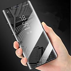 Недорогие Чехлы и кейсы для Galaxy Note 5-Кейс для Назначение SSamsung Galaxy Note 9 / Note 8 со стендом / Покрытие / Зеркальная поверхность Чехол Однотонный Твердый ПК для Note 9 / Note 8 / Note 5