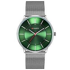 preiswerte Herrenuhren-Herrn Armbanduhr Chronograph / Armbanduhren für den Alltag / Cool Edelstahl Band Armreif / Minimalistisch Schwarz / Blau / Silber