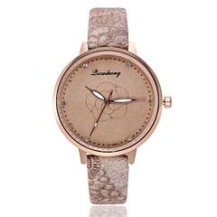 preiswerte Damenuhren-Damen Kleideruhr / Armbanduhr Chinesisch Neues Design / Armbanduhren für den Alltag / Imitation Diamant PU Band Modisch / Elegant Schwarz / Weiß / Braun