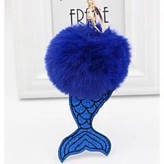 preiswerte Schlüsselanhänger-Fische Schlüsselanhänger Purpur / Rot / Rosa Irregulär, Meerjungfrau Kaninchen Haare, Aleación Süß, Modisch Für Geschenk / Alltag