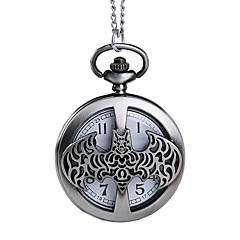 abordables Relojes de Bolsillo-Hombre Reloj de Bolsillo Huecograbado Aleación Banda Moda / Esqueleto Plata