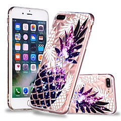 Недорогие Кейсы для iPhone 7-Кейс для Назначение Apple iPhone X / iPhone 8 Plus Прозрачный / С узором Кейс на заднюю панель Фрукты Мягкий ТПУ для iPhone X / iPhone 8 Pluss / iPhone 8