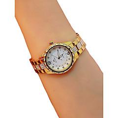 preiswerte Damenuhren-Damen Armbanduhr Quartz Chronograph leuchtend Armbanduhren für den Alltag Legierung Band Analog Armreif Elegant Silber / Gold / Rotgold - Gold Silber Rotgold / Imitation Diamant