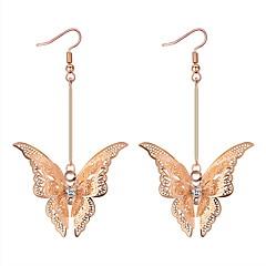 preiswerte Ohrringe-Damen Geometrisch / Lang Tropfen-Ohrringe - Schmetterling Luxus, Hyperbel Gold / Silber Für Party / Maskerade