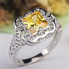 preiswerte Ringe-Damen Klassisch / Hohl Ring - Platiert, Diamantimitate Kreativ Klassisch, Elegant, Britisch 6 / 7 / 8 Gelb Für Hochzeit / Party