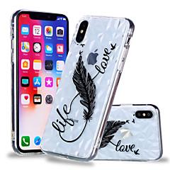 Недорогие Кейсы для iPhone X-Кейс для Назначение Apple iPhone X / iPhone 8 Plus С узором Кейс на заднюю панель  Перья Мягкий ТПУ для iPhone X / iPhone 8 Pluss / iPhone 8