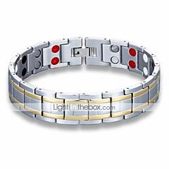 preiswerte Armbänder-Herrn Vintage Stil Klassisch Ketten- & Glieder-Armbänder Hologramarmband - Rostfrei Kreativ Einfach, Einzigartiges Design, Retro Armbänder Silber Für Alltag Arbeit