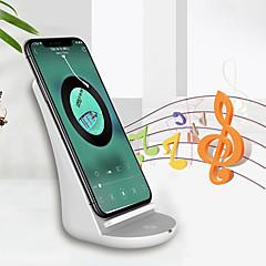 abordables Cargadores para Teléfono-soporte inalámbrico universal del cargador de la carga rápida de nueve cinco nf10 con el altavoz bt para el iphone x Samsung s7 s9