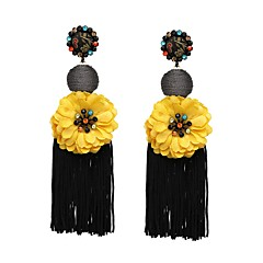preiswerte Ohrringe-Damen Vintage Stil Quaste Kreolen - Stilvoll, Asiatisch, Einfach Rot / Grün / Blau Für Maskerade Büro & Karriere