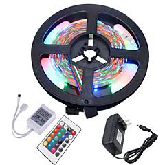 preiswerte LED Lichtstreifen-HKV 5m Flexible LED-Leuchtstreifen / Leuchtbänder RGB 300 LEDs 3528 SMD RGB Schneidbar / Verbindbar / Selbstklebend 12 V