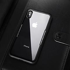 Недорогие Кейсы для iPhone-Кейс для Назначение Apple iPhone X / iPhone XS Max Защита от удара / Полупрозрачный Кейс на заднюю панель Однотонный Мягкий Акрил для iPhone XS / iPhone XR / iPhone XS Max