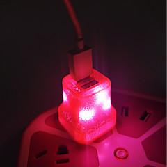 お買い得  LED アイデアライト-BRELONG® 1個 LEDナイトライト ホワイト / ブルー / グリーン AC電源 デュアルl USB / デコレーション / ベッドサイド 220-240 V / 110-120 V