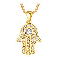 preiswerte Halsketten-Damen Kubikzirkonia Klassisch Anhängerketten - Modisch Gold, Silber 55 cm Modische Halsketten Schmuck 1pc Für Geschenk, Alltag