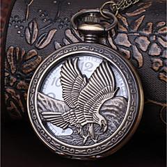 baratos Relógios para Casais-Homens Casal Relógio de Bolso Quartzo Relógio Casual Legal Lega Banda Analógico Vintage Casual Bronze - Bronze