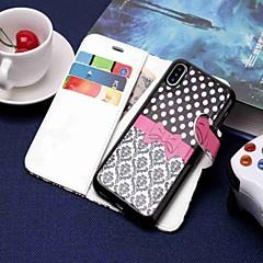 Недорогие Кейсы для iPhone X-Кейс для Назначение Apple iPhone XR / iPhone XS Max Кошелек / Бумажник для карт / со стендом Чехол Мультипликация Твердый Кожа PU для iPhone XS / iPhone XR / iPhone XS Max
