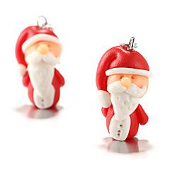 お買い得  イヤリング-女性用 彫刻オブジェ ドロップイヤリング - サンタスーツ ステートメント, ユニーク, カトゥーン, かわいいスタイル レッド 用途 クリスマス 式典 祭り
