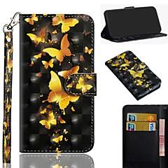 Недорогие Кейсы для iPhone 6-Кейс для Назначение Apple iPhone XS / iPhone XS Max С узором Чехол Бабочка Твердый Кожа PU для iPhone XS / iPhone XR / iPhone XS Max