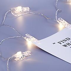 preiswerte LED Lichtstreifen-1.2 Leuchtgirlanden 10 LEDs Weiß Cool AA-Batterien angetrieben 1pc