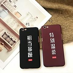 Недорогие Кейсы для iPhone 6-Кейс для Назначение Apple iPhone X / iPhone 7 Plus С узором Кейс на заднюю панель Слова / выражения Твердый Акрил для iPhone X / iPhone 8 Pluss / iPhone 8