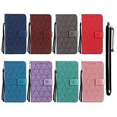 Недорогие Чехлы и кейсы для Nokia-Кейс для Назначение Nokia Nokia 6 / Nokia 5 Кошелек / Бумажник для карт / со стендом Чехол Цветы Твердый Кожа PU для Nokia 6 / Nokia 5 / Nokia 3