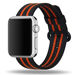 お買い得  メンズ腕時計-ナイロン 時計バンド ストラップ のために Apple Watch Series 3 / 2 / 1 ブルー / オレンジ / グレー 23センチメートル / 9インチ 2.1cm / 0.83 Inch