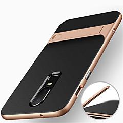 お買い得  その他のケース-ケース 用途 OnePlus OnePlus 6 耐衝撃 / スタンド付き バックカバー 鎧 ハード PC のために OnePlus 6 / One Plus 5 / OnePlus 5T