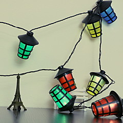 preiswerte LED Lichtstreifen-2,5 m Leuchtgirlanden 10 LEDs Mehrfarbig Neues Design / Dekorativ / Cool AA-Batterien angetrieben