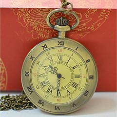 abordables Relojes de Bolsillo-Hombre Mujer Reloj de Bolsillo Cuarzo Reloj Casual Cool Aleación Banda Analógico Casual Moda Dorado - Dorado