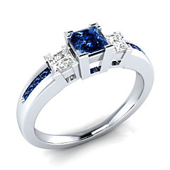 preiswerte Ringe-Damen Kubikzirkonia Stilvoll Ring - Kupfer, Platiert Romantisch 6 / 7 / 8 / 9 / 10 Weiß / Blau Für Verlobung Geschenk