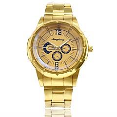 お買い得  メンズ腕時計-男性用 ドレスウォッチ リストウォッチ クォーツ 新デザイン カジュアルウォッチ 合金 バンド ハンズ カジュアル ファッション ゴールド - ゴールド ホワイト ブルー 1年間 電池寿命