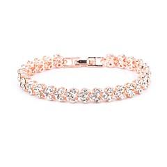 preiswerte Armbänder-Damen Tennis Kette Vintage Armbänder / Kristall Armband - Liebe Luxus, Modisch Armbänder Gold / Silber / Rotgold Für Hochzeit / Verlobung