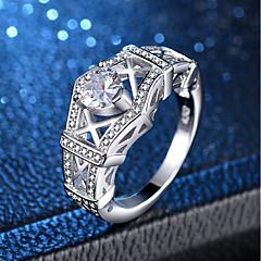 preiswerte Ringe-Damen Ring - Platiert, Diamantimitate Herz, Liebe Romantisch, Elegant, Franz?sisch 6 / 7 / 8 / 9 / 10 Silber Für Hochzeit Verlobung