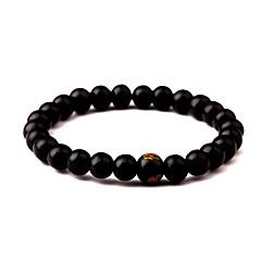 preiswerte Armbänder-Herrn Glasperlen Strang-Armbänder - Buddha Einfach, Beiläufig / sportlich Armbänder Schwarz / Rot Für Alltag Strasse Ausgehen