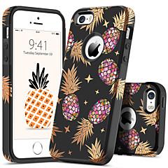 Недорогие Кейсы для iPhone 5-BENTOBEN Кейс для Назначение Apple Кейс для iPhone 5 Защита от удара / С узором Кейс на заднюю панель Растения / Фрукты Твердый ПК для iPhone SE / 5s / iPhone 5