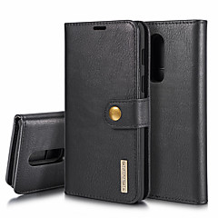 お買い得  その他のケース-DG.MING ケース 用途 OnePlus OnePlus 6 ウォレット / カードホルダー / スタンド付き フルボディーケース ソリッド ハード 本革 のために OnePlus 6