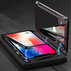 Недорогие Кейсы для iPhone 7 Plus-Кейс для Назначение Apple iPhone X / iPhone 8 Магнитный Чехол Однотонный Твердый Закаленное стекло для iPhone X / iPhone 8 Pluss / iPhone 8