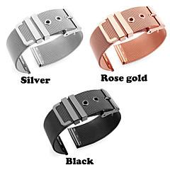 preiswerte Herrenuhren-Edelstahl Uhrenarmband Gurt für Apple Watch Series 3 / 2 / 1 Schwarz / Silber / Gold 18cm / 7 Inch 2cm / 0.8 Inch