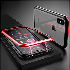 billige -Etui Til Apple iPhone XR / iPhone XS Max Transparent / Magnetisk Fuldt etui Ensfarvet Hårdt Tempereret glas for iPhone XS / iPhone XR / iPhone XS Max